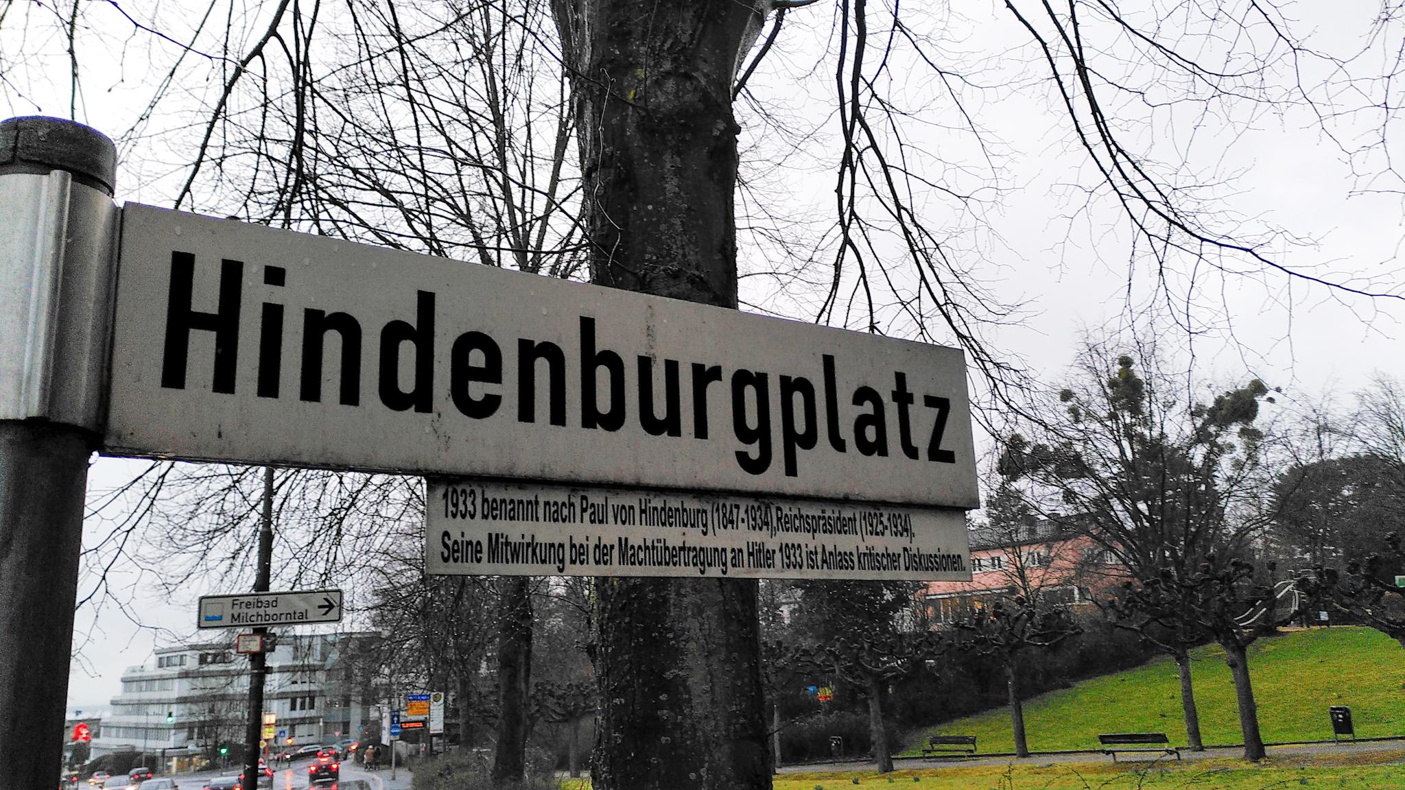 Hindenburg hat keinen Platz mehr auf unserer Stadtkarte